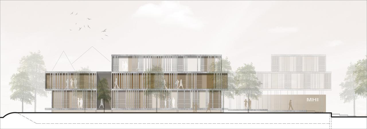 Verwaltungsgeb ude f r die mhi ag a z architekten - Architektur ansicht ...