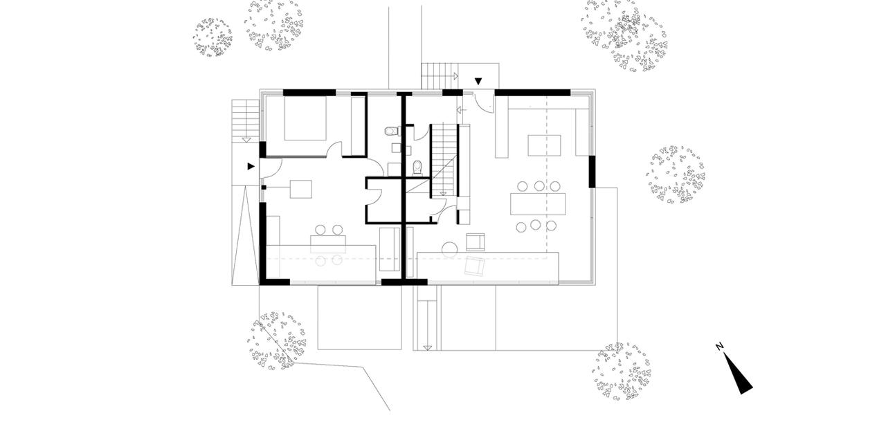 Wohnhaus a a z architekten for Wohnhaus grundriss