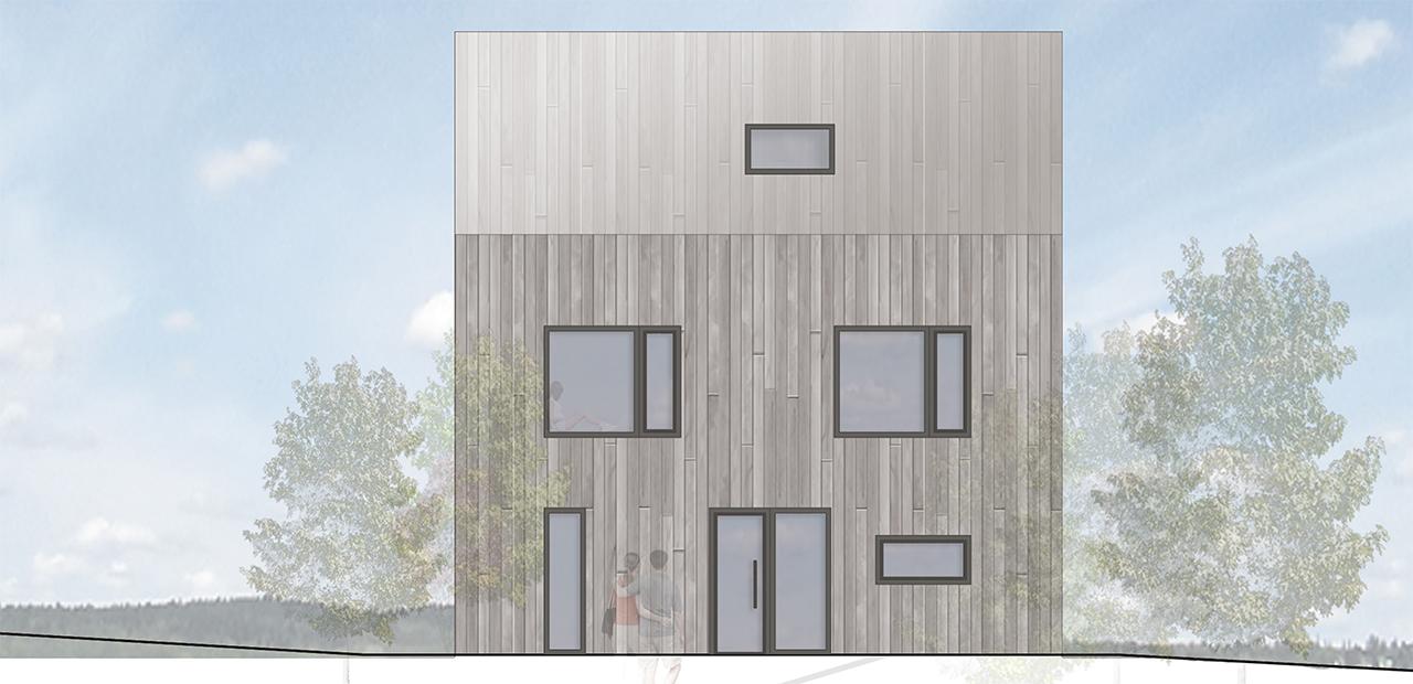 Ansicht Architektur wohnhaus f a z architekten
