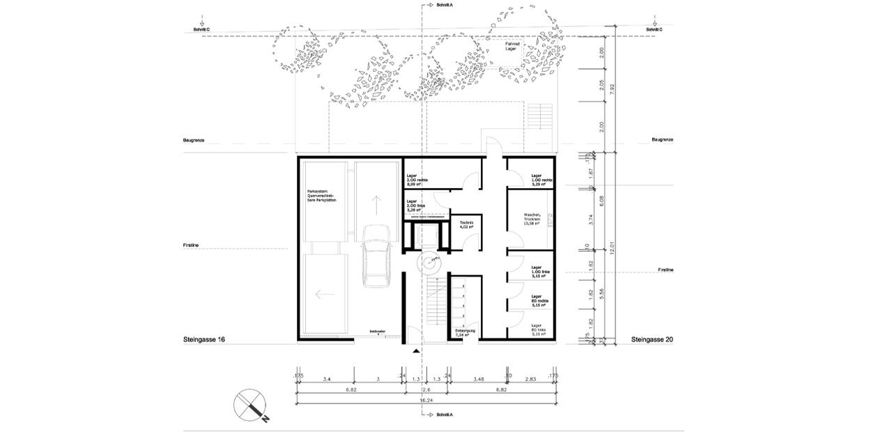 Wohnhaus steingasse a z architekten for Wohnhaus grundriss